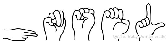 Hänsel im Fingeralphabet der Deutschen Gebärdensprache