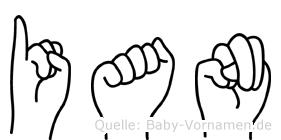 Ian in Fingersprache für Gehörlose