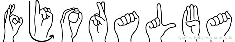 Fjoralba im Fingeralphabet der Deutschen Gebärdensprache