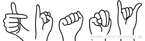 Tiany in Fingersprache für Gehörlose