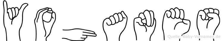 Yohanes im Fingeralphabet der Deutschen Gebärdensprache