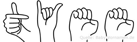 Tyee in Fingersprache für Gehörlose