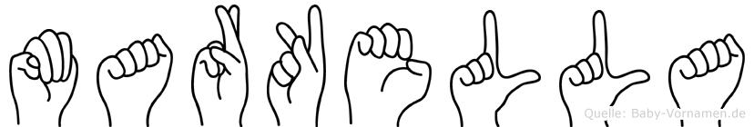 Markella im Fingeralphabet der Deutschen Gebärdensprache