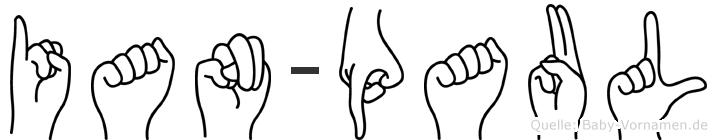 Ian-Paul im Fingeralphabet der Deutschen Gebärdensprache