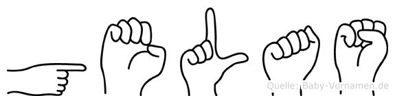 Gelas in Fingersprache für Gehörlose