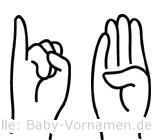 Ib in Fingersprache für Gehörlose