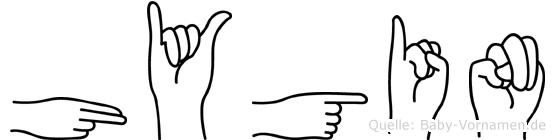 Hygin in Fingersprache für Gehörlose