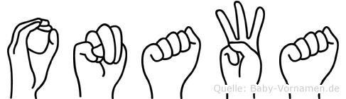 Onawa in Fingersprache für Gehörlose