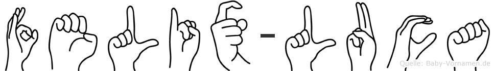 Felix-Luca im Fingeralphabet der Deutschen Gebärdensprache