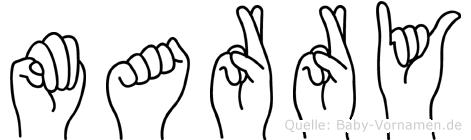 Marry in Fingersprache für Gehörlose