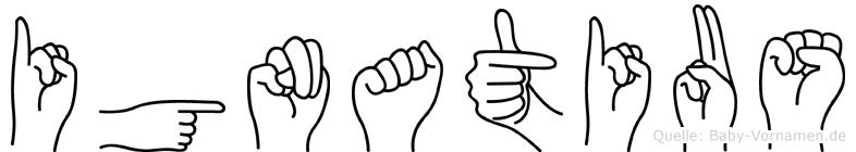 Ignatius in Fingersprache für Gehörlose