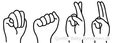 Maru in Fingersprache für Gehörlose