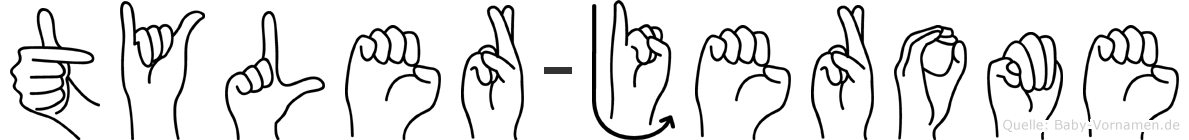 Tyler-Jerome im Fingeralphabet der Deutschen Gebärdensprache