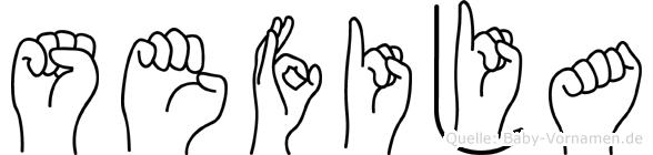 Sefija in Fingersprache für Gehörlose