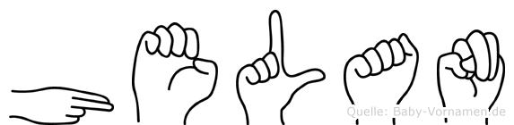 Helan in Fingersprache für Gehörlose