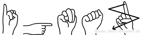 Ignaz in Fingersprache für Gehörlose