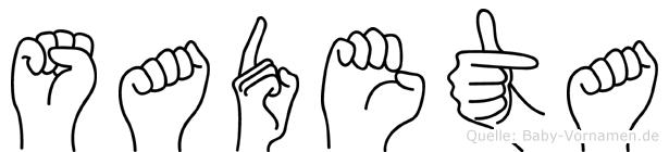 Sadeta in Fingersprache für Gehörlose