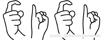 Xixi in Fingersprache für Gehörlose