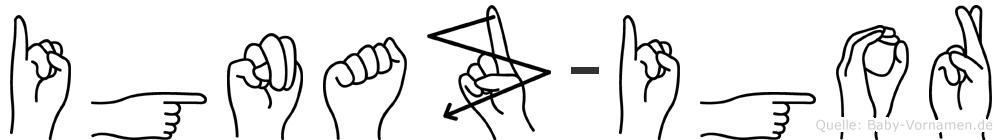 Ignaz-Igor im Fingeralphabet der Deutschen Gebärdensprache