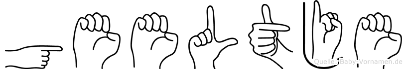 Geeltje im Fingeralphabet der Deutschen Gebärdensprache