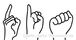 Dia im Fingeralphabet der Deutschen Gebärdensprache