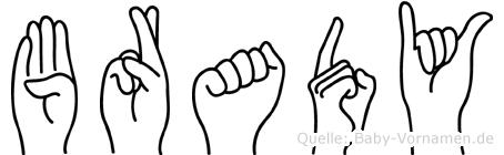 Brady im Fingeralphabet der Deutschen Gebärdensprache