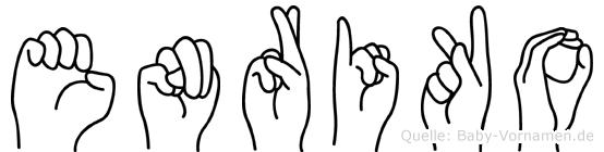 Enriko im Fingeralphabet der Deutschen Gebärdensprache