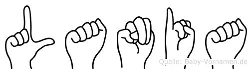 Lania im Fingeralphabet der Deutschen Gebärdensprache