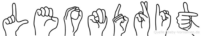 Leondrit in Fingersprache für Gehörlose