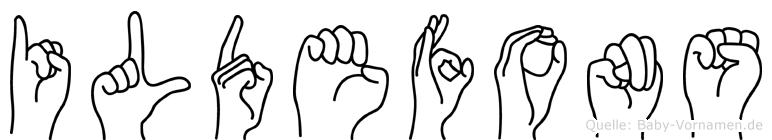 Ildefons in Fingersprache für Gehörlose