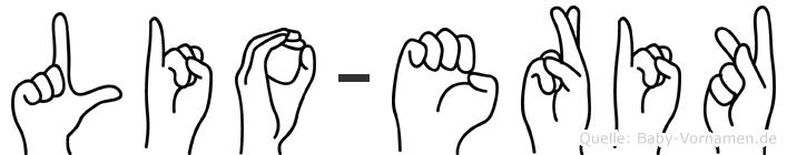 Lio-Erik im Fingeralphabet der Deutschen Gebärdensprache