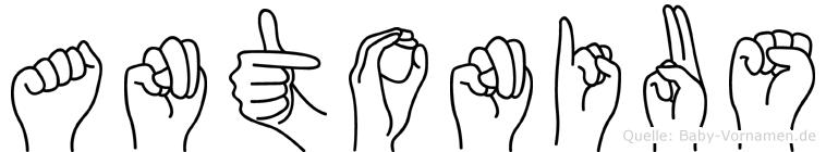 Antonius in Fingersprache für Gehörlose