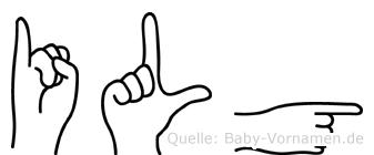 Ilg in Fingersprache für Gehörlose