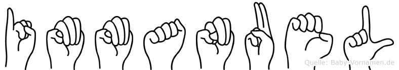 Immanuel im Fingeralphabet der Deutschen Gebärdensprache