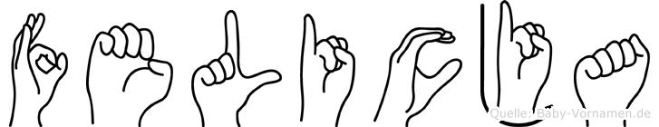 Felicja im Fingeralphabet der Deutschen Gebärdensprache