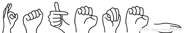 Fatemeh im Fingeralphabet der Deutschen Gebärdensprache