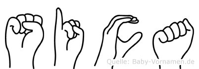 Sica in Fingersprache für Gehörlose