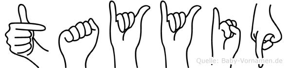 Tayyip im Fingeralphabet der Deutschen Gebärdensprache