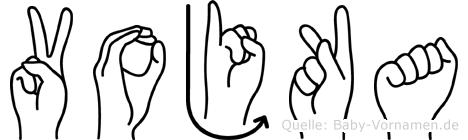Vojka in Fingersprache für Gehörlose