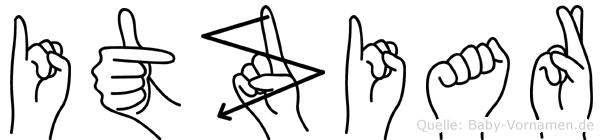 Itziar im Fingeralphabet der Deutschen Gebärdensprache