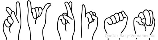 Kyrian in Fingersprache für Gehörlose