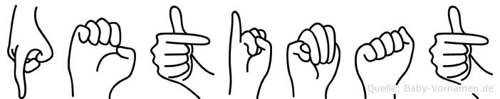 Petimat in Fingersprache für Gehörlose