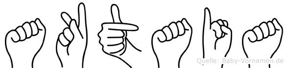 Aktaia im Fingeralphabet der Deutschen Gebärdensprache