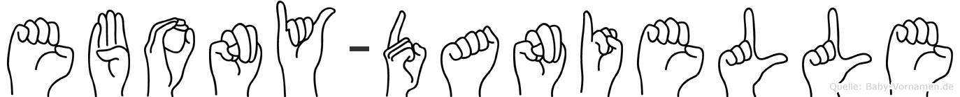 Ebony-Danielle im Fingeralphabet der Deutschen Gebärdensprache