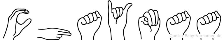 Chaymaa im Fingeralphabet der Deutschen Gebärdensprache