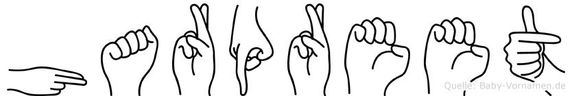 Harpreet im Fingeralphabet der Deutschen Gebärdensprache