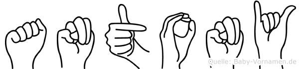 Antony in Fingersprache für Gehörlose