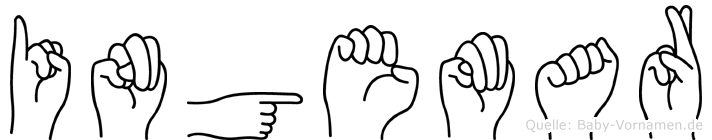 Ingemar im Fingeralphabet der Deutschen Gebärdensprache
