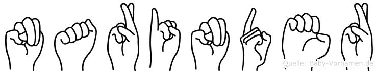 Narinder in Fingersprache für Gehörlose