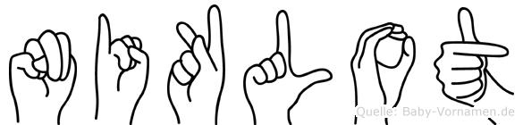 Niklot im Fingeralphabet der Deutschen Gebärdensprache